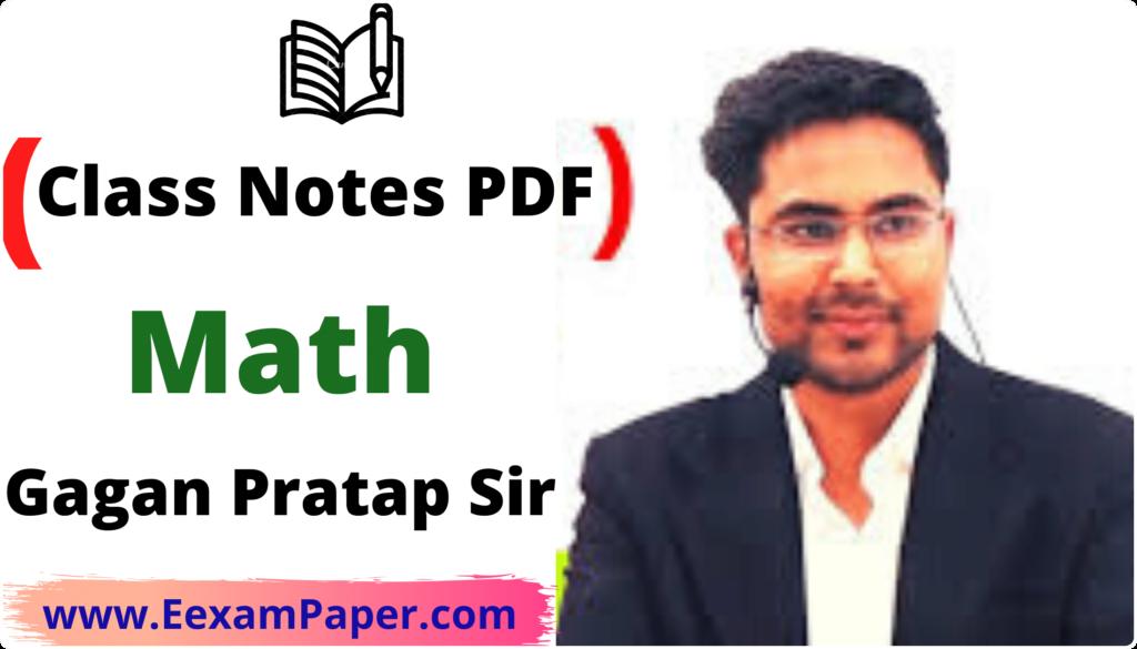 Gagan Pratap class notes
