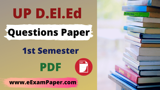 up-deled-1st-semester-question-paper