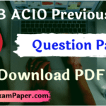 IB ACIO 2019 Question Paper, IB ACIO Previous Year Question Paper in Hindi PDF, IB ACIO Question Paper with Solution, IB ACIO QUESTION PAPER, IB ACIO Question Paper in Hindi & English